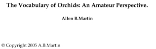 The Vocabulary of Orchids by Allen Martin-1