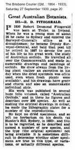 Original article from the Brisbane Courier, Saturday 27 September 1930